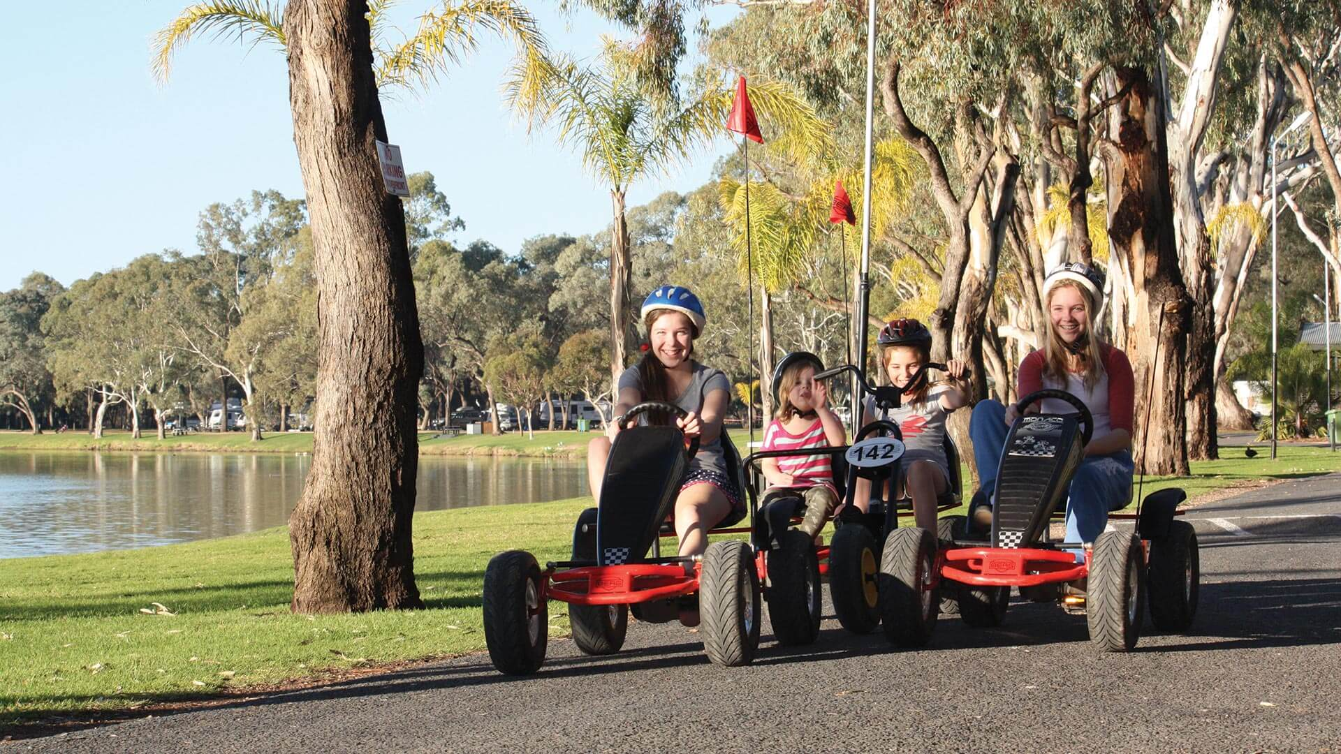 Pedal bikes at BIG4 Renmark Riverfront Holiday Park