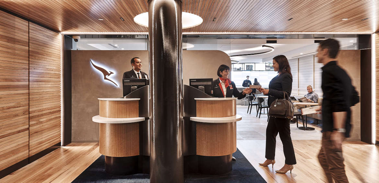 Qantas International Business Lounge entrance in Brisbane ©Qantas