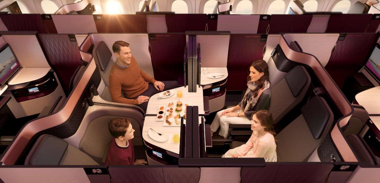 Qatar Airways' revolutionary Qsuite ©Qatar Airways