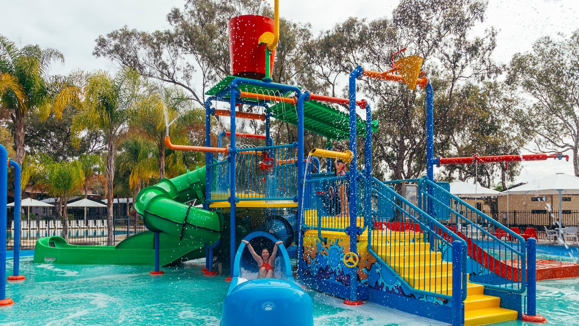 Water park at BIG4 Renmark Riverfront Holiday Park