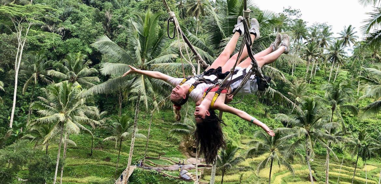 The Bryans twins enjoy a Bali swing