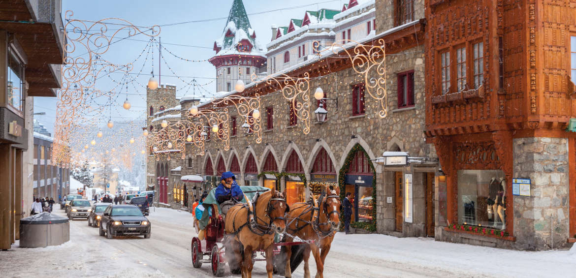 St. Moritz, Switzerland has a magical village