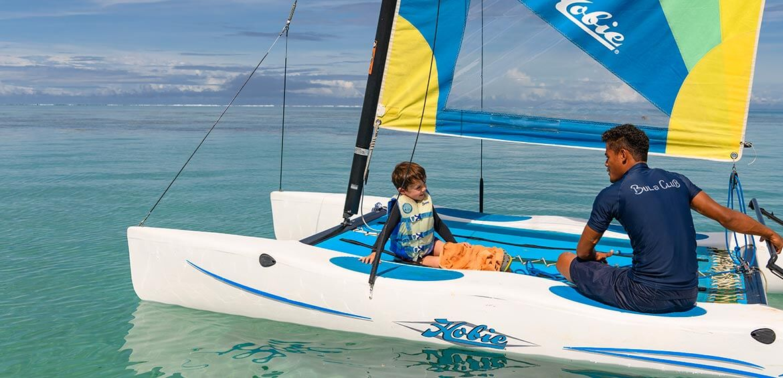Catamaran at Jean-Michel Cousteau Resort Fiji