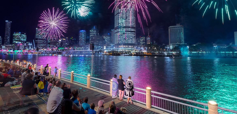 Fireworks, Christmas in Brisbane
