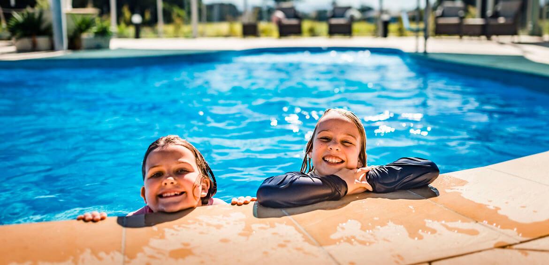 Kids having fun at Riverside Holiday Resort