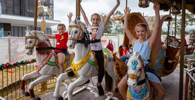 Merry-go-round at Sydney Santa Spectacular