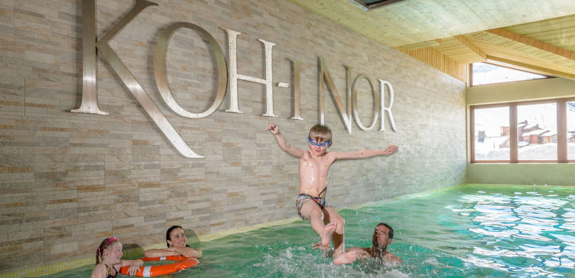 Fun at the indoor pool at Koh-I Noor