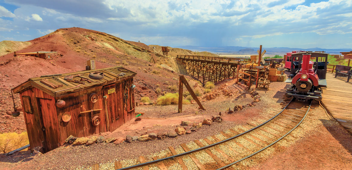Heritage railroad in historic ghost town