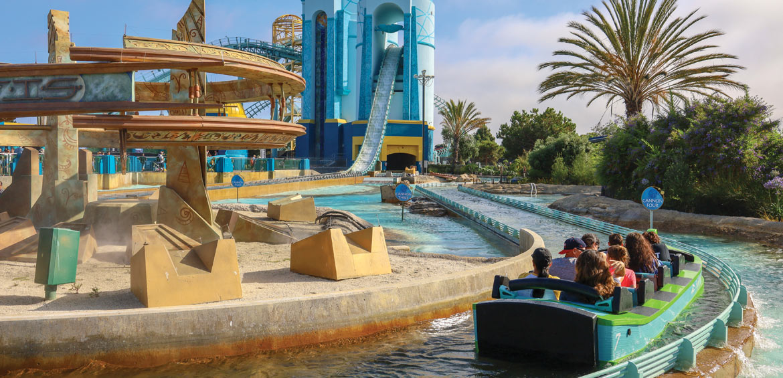 The Journey to Atlantis ride at SeaWorld San Diego.