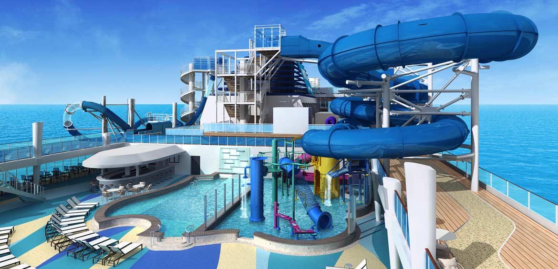 Norwegian Encore's Aqua Park