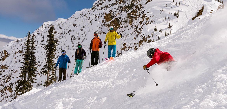 Skiing at Kicking Horse Mountain, Golden, BC