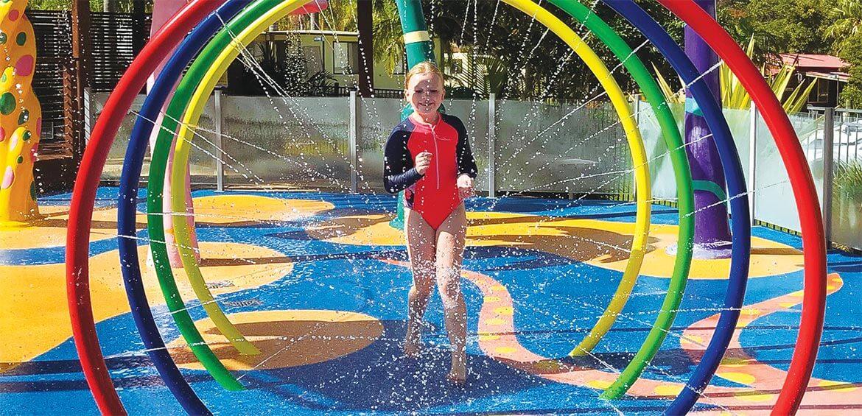 Splashpad at Wairo Beach Holiday Park