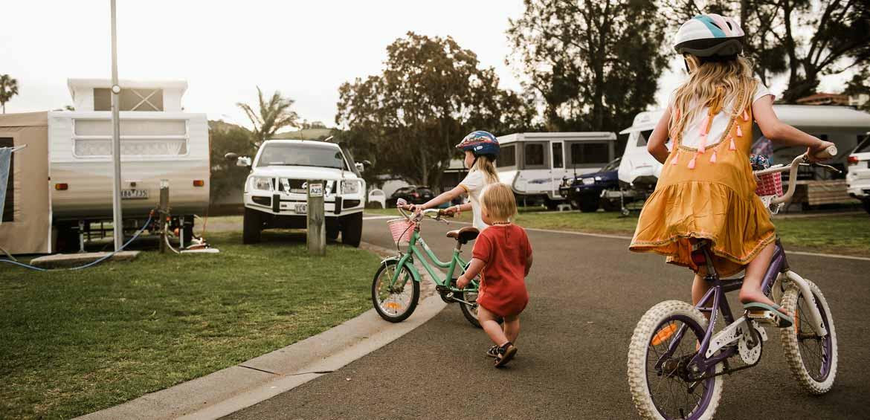 Bike riding around BIG4 Easts Beach Holiday Park