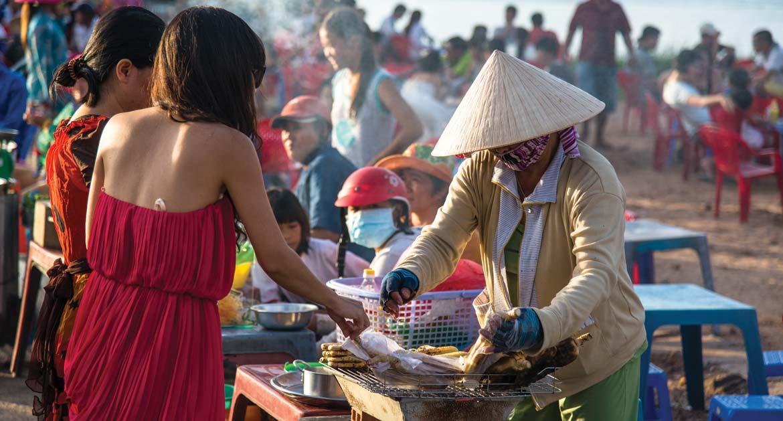 Phu Quoc local market vendor