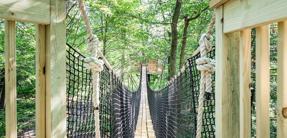 Bridge at The Mohicans Treehouses