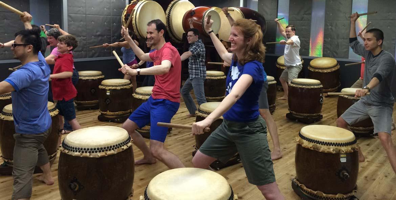 taiko drumming session