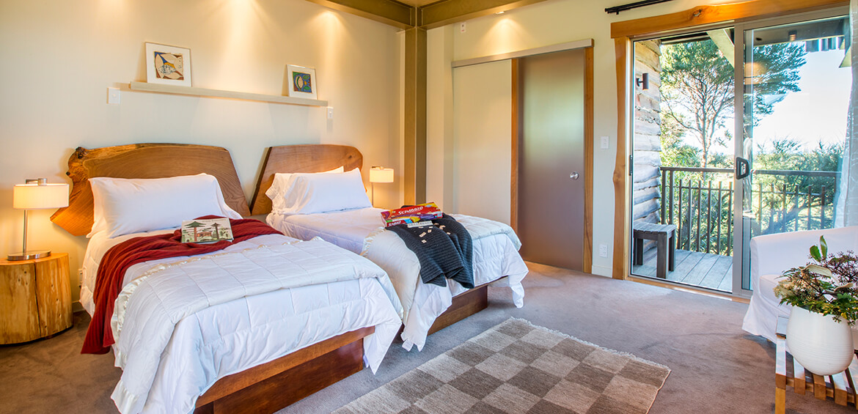 Kids room at Hapuku Lodge + Tree Houses