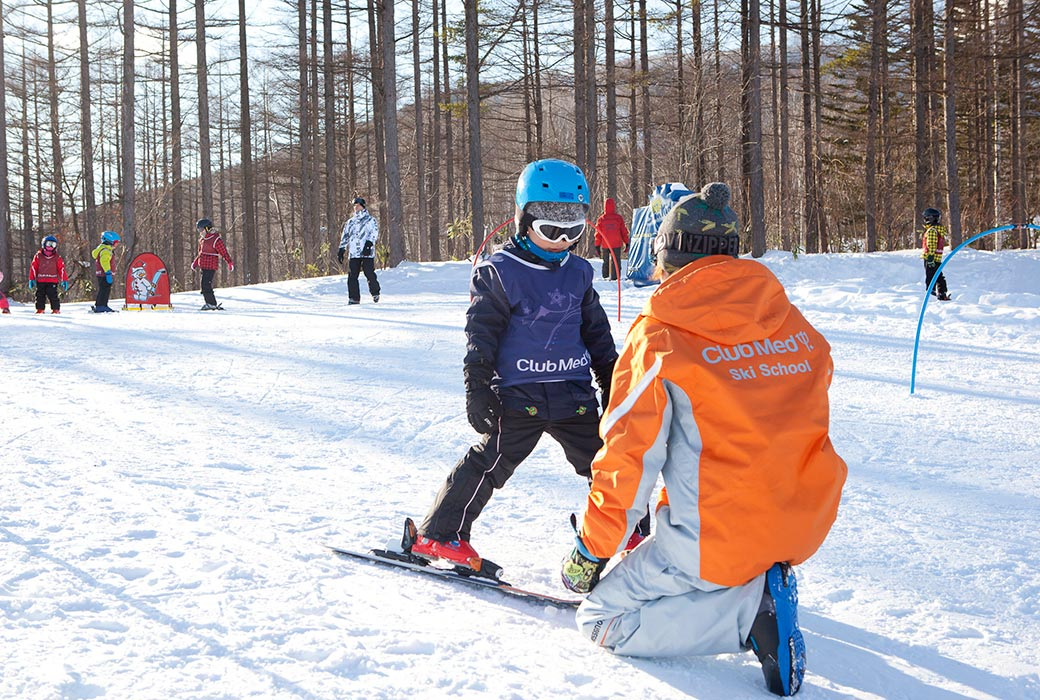 Learning to ski at Club Med Sahoro