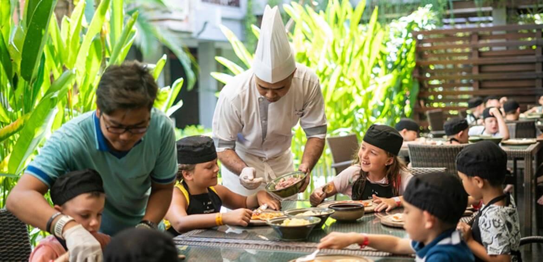 Pizza making at Bali Dynasty Resort