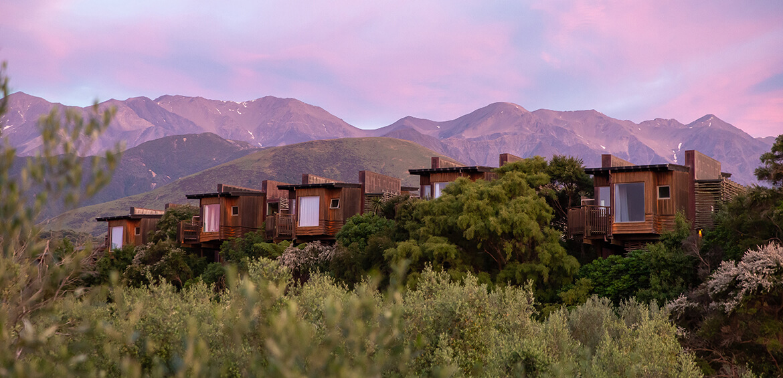 The view from Hapuku Lodge + Tree Houses
