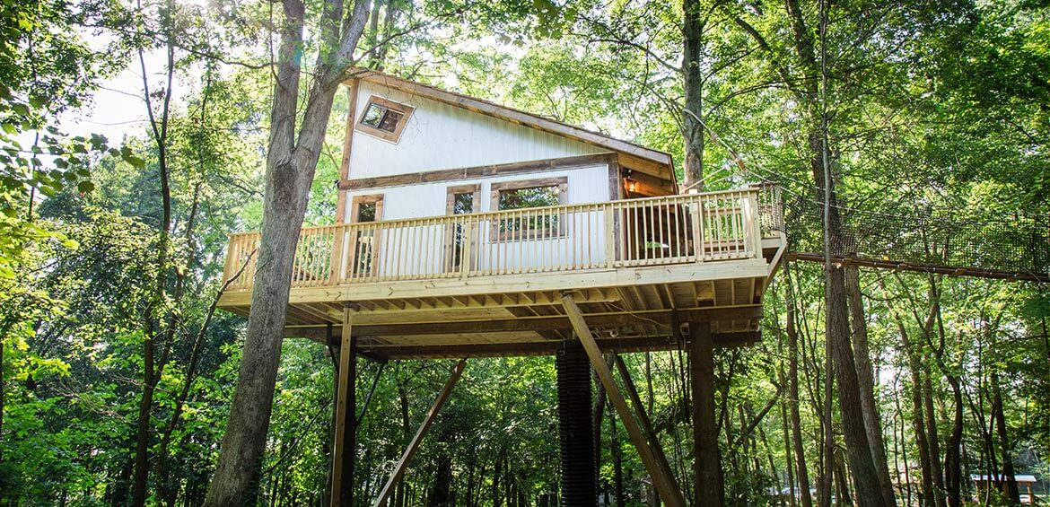 Tin Shed Treehouse exterior