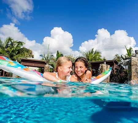 Kids in the pool at Gold Coast Holiday Park Resort