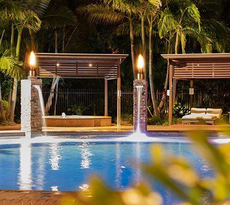Pool area at BIG4 Gold Coast Holiday Park