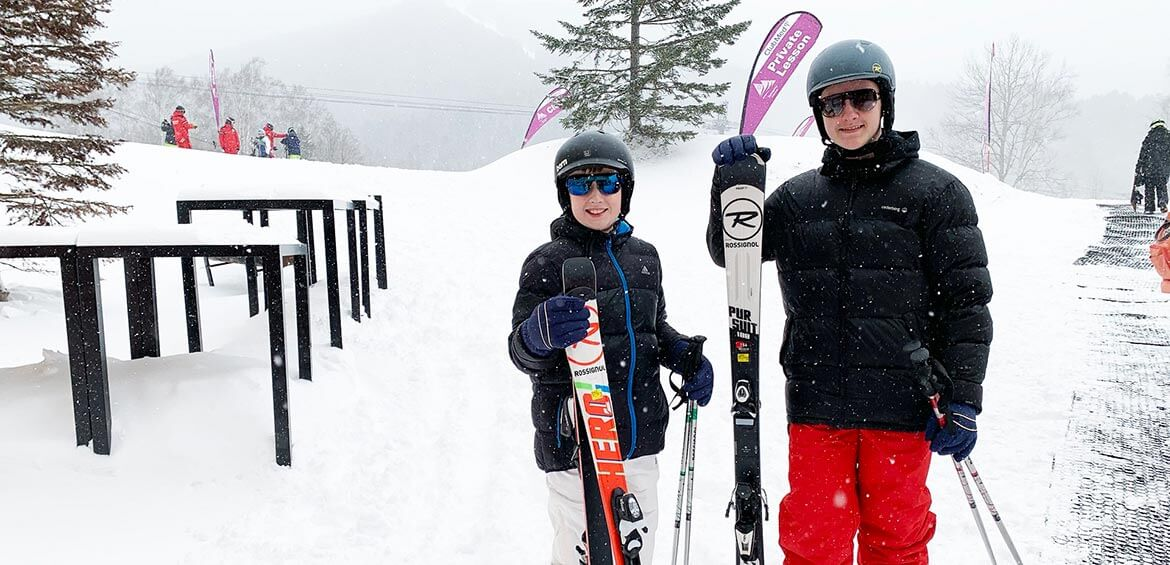 Ski lessons at Club Med Tomamu