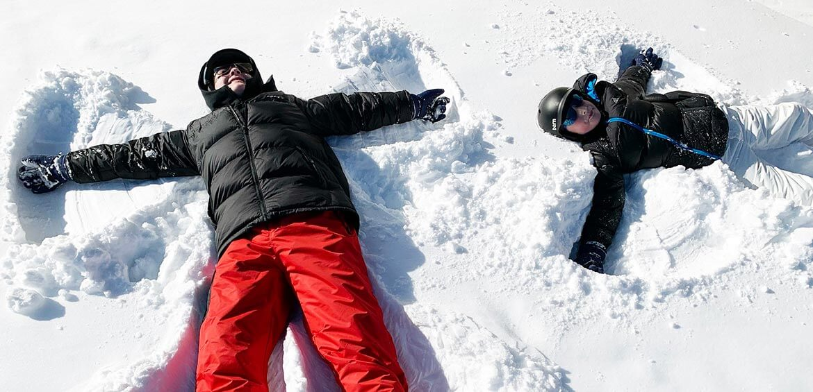 Snow angels at Club Med Tomamu