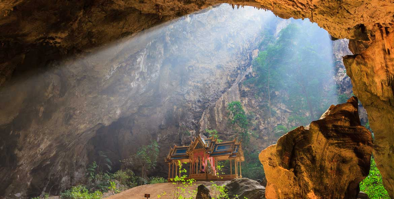 Pavilion in Phraya Nakorn cave nearby Hua Hin , National Park Khao Sam Roi Yot, Thailand .