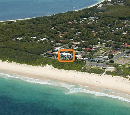 Aerial view of Bennett's by the Beach
