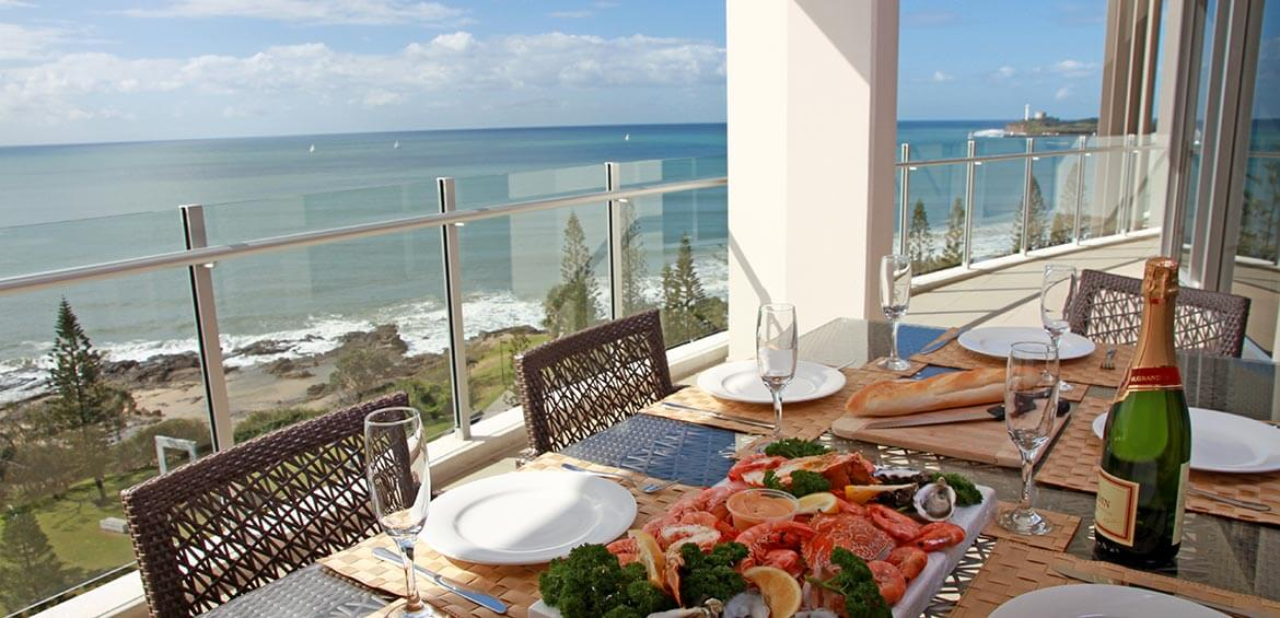 Lunch with a view at Oceans Mooloolaba