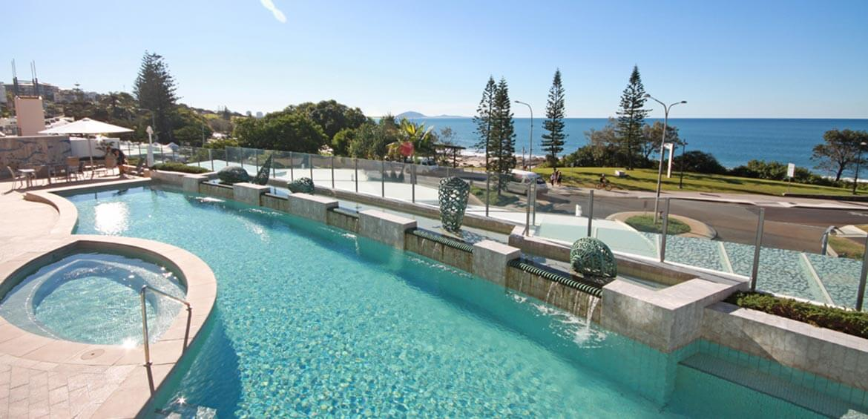 Pool and Spa at Oceans Mooloolaba