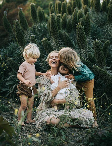 Teresa Palmer and her kids
