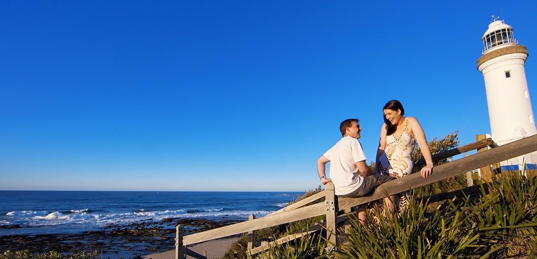Couple at Norah Head Lighthouse, Norah Head