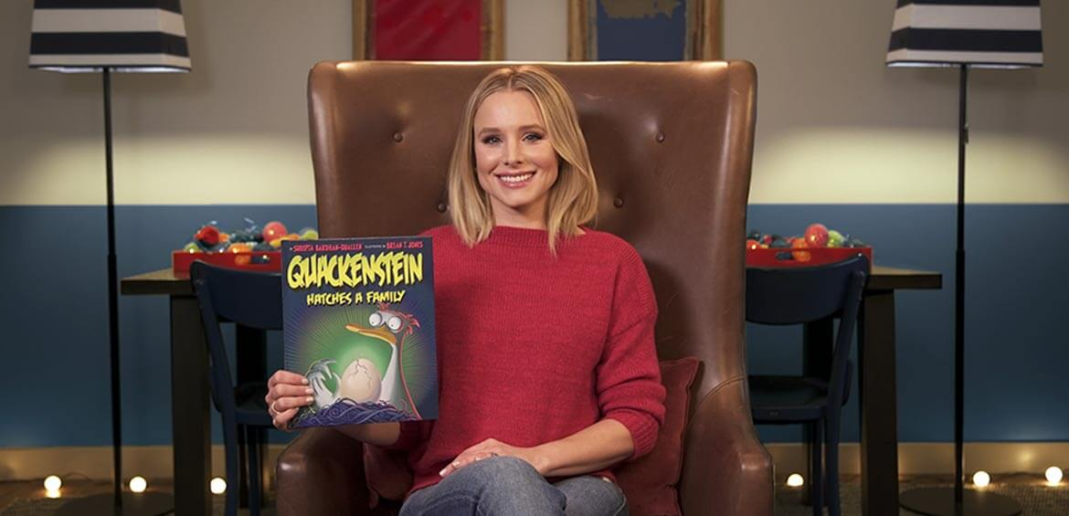 Kristen Bell reads Quackenstein Hatches a Family