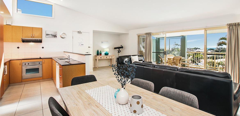 Lounge room at Lennox Beach Resort