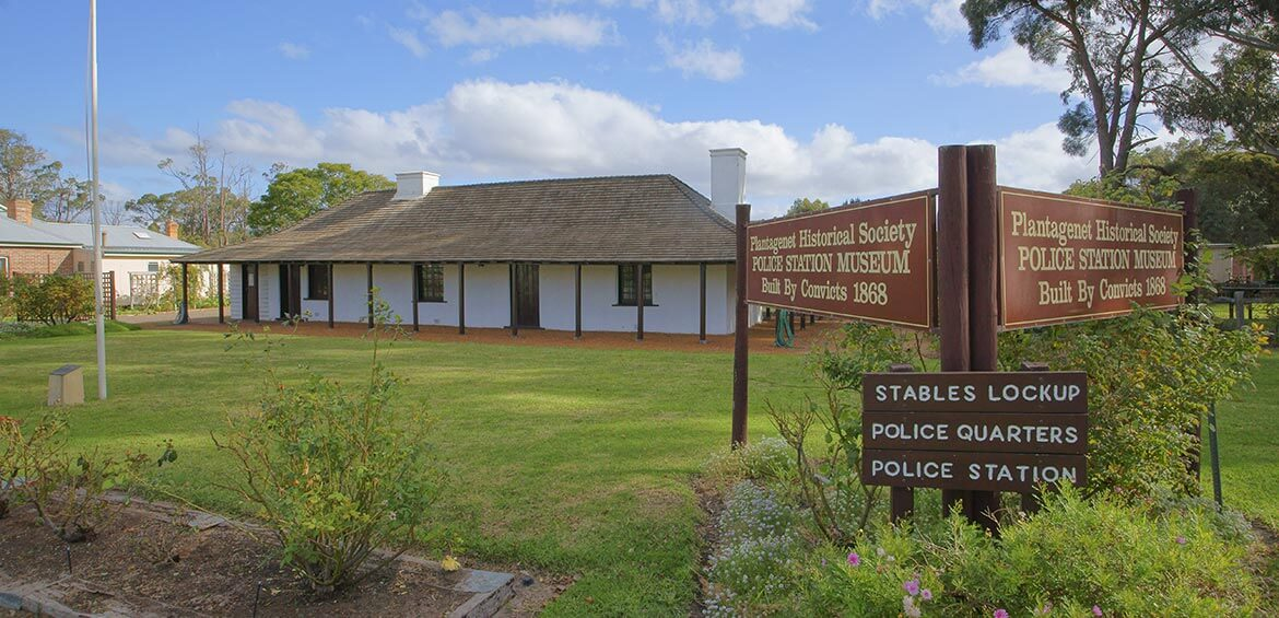 The Plantagenet Historical Society complex, located in the Old Police Station in Mount Barker