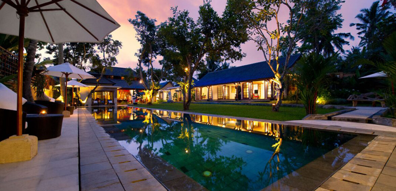 Dusk at Villa San, Ubud