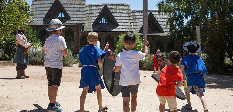 Kids at Kryal Castle