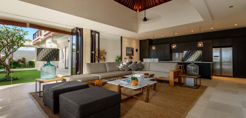 Lounge room at Villa Maya, Canggu
