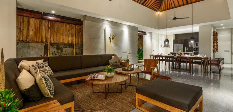 Lounge room at Villa Waha, Canggu