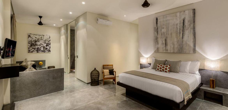 Master bedroom at Villa Waha, Canggu
