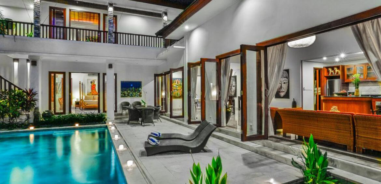 Open living at Villa Shanti, Seminyak