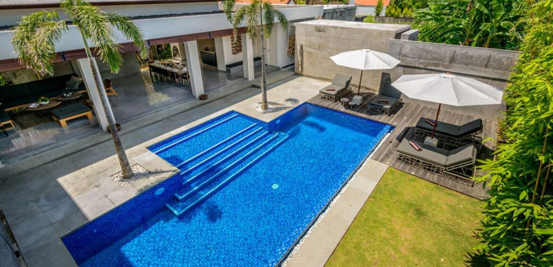 Pool durring the day at Villa Waha, Canggu