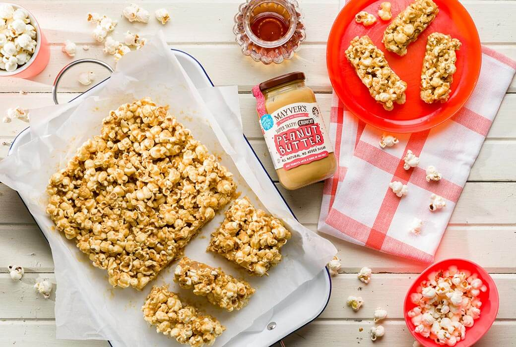 Peanut popcorn bars by Mayver's, meal prep