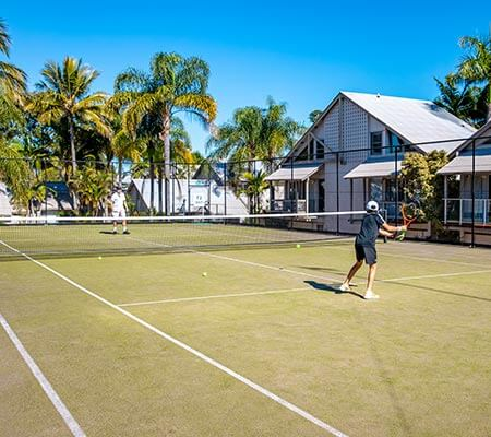 Tennis court at The Islander Noosa Resort