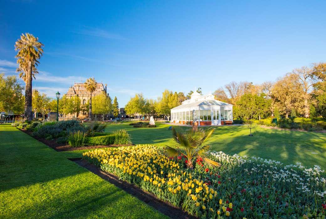 Bendigo conservatory in Rosalind Park