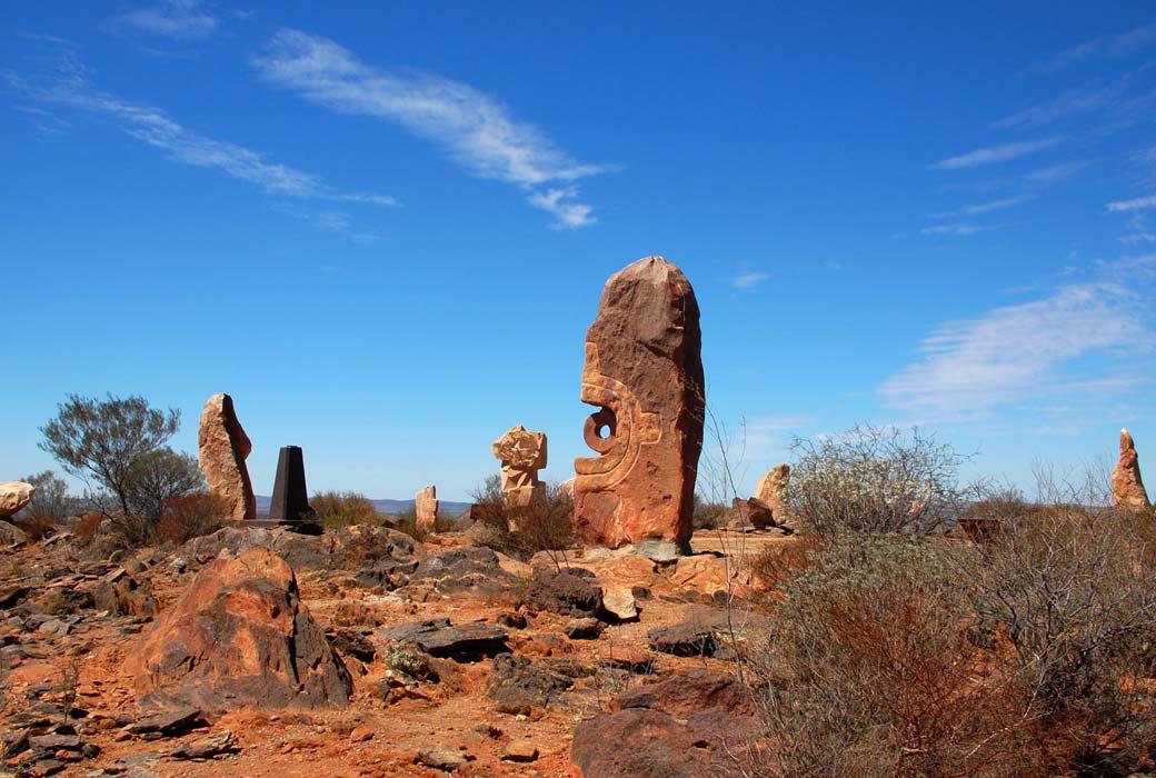 Millennium project sculpture symposium which overlooks Broken Hill