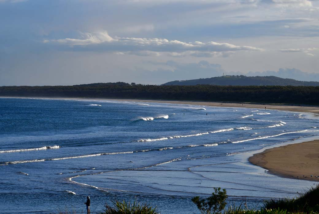 A view of Seven Mile Beach from Gerroa on the South Coast of New South Wales